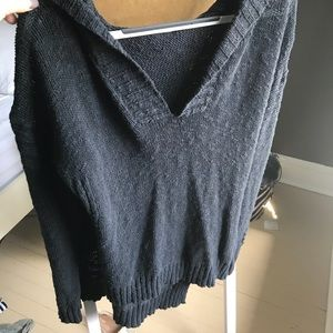 Roxy knitted sweater with hood